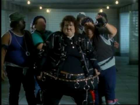 Weird Al in his 'Fat' music video, wearing a fat version of a Michael Jackson costume.